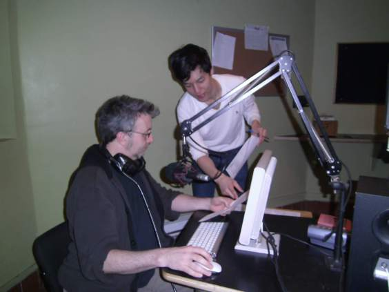 CKUT's Ken McMurray and Andrew Seo in-studio